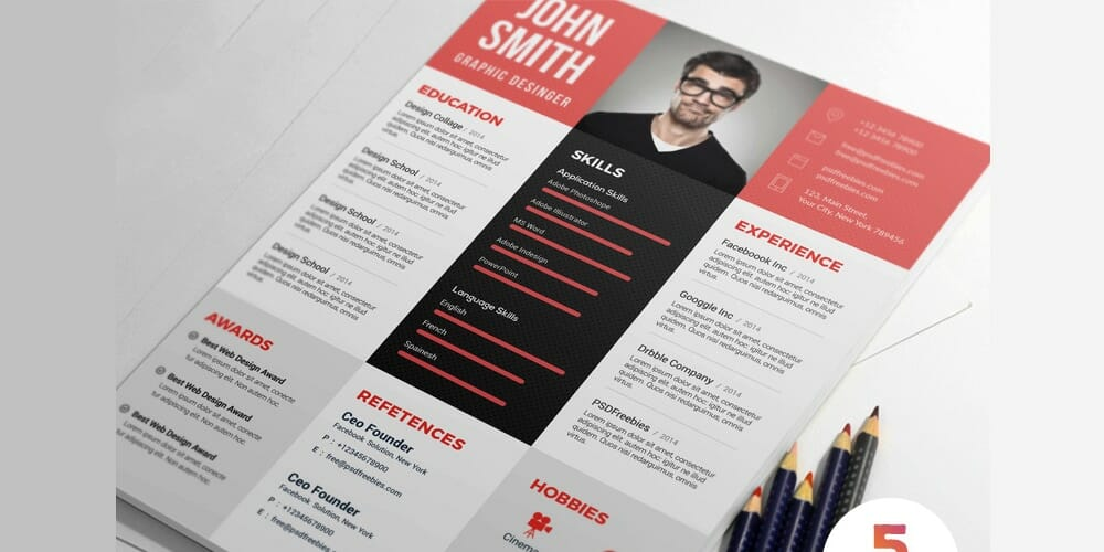 Ultimate Collection Of Free Resume Templates Css Author Photoshop