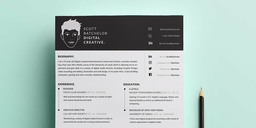 Free A4 CV Covering Letter Templates PSD