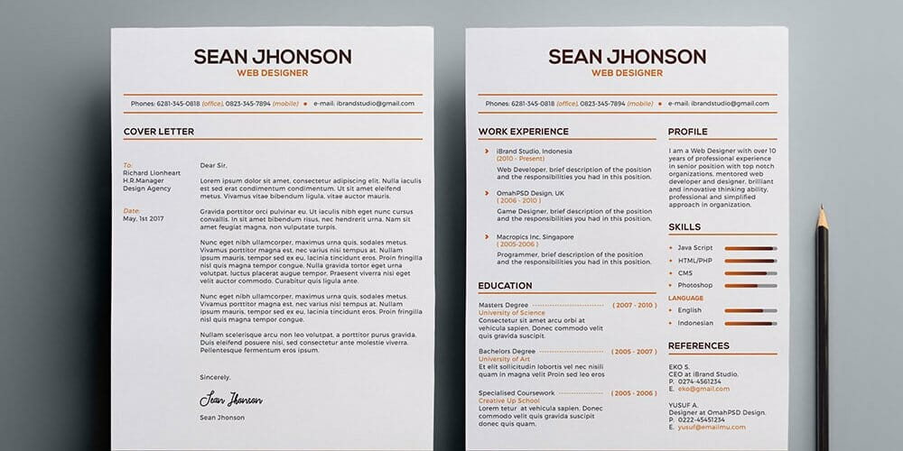 Free Malist Resume Template PSD