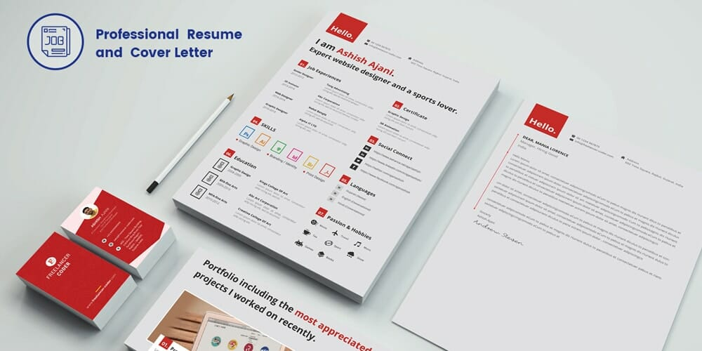 Free Modern Resume Template PSD
