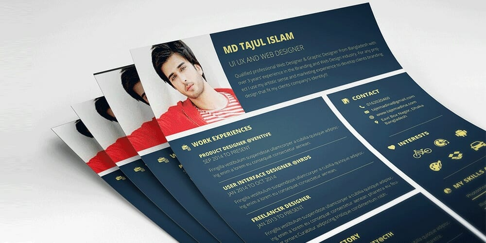 Free Personal Resume Template PSD