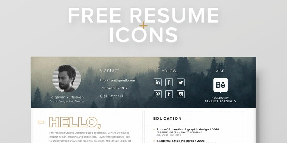 Free Resume Template + Icons