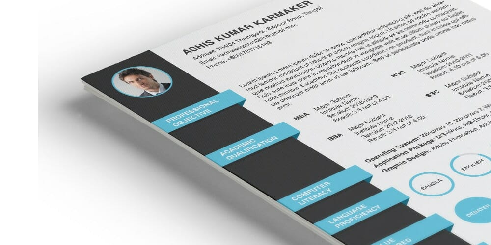 Free Resume Template with Formal Design
