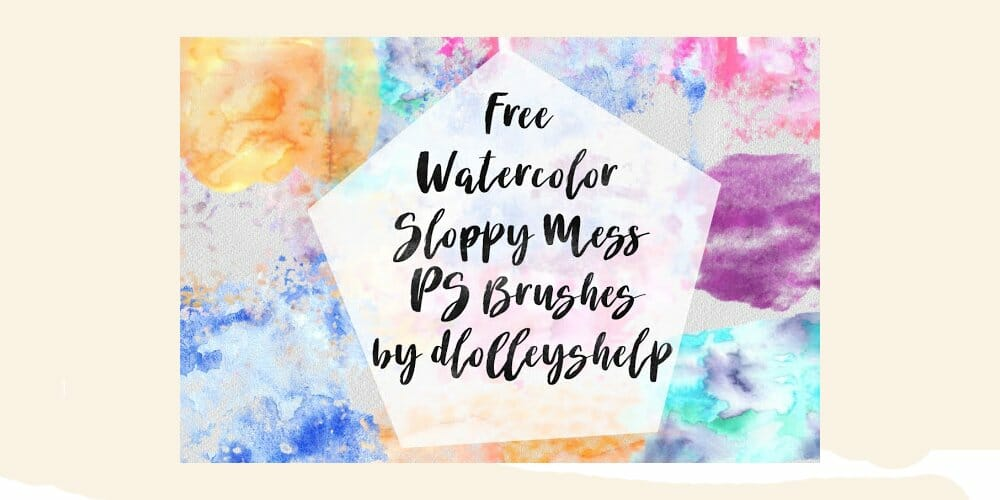 Free Watercolor Sloppy Mess Photoshop Brushes