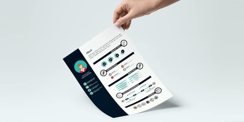 Infographic-Resume-Template-Vector