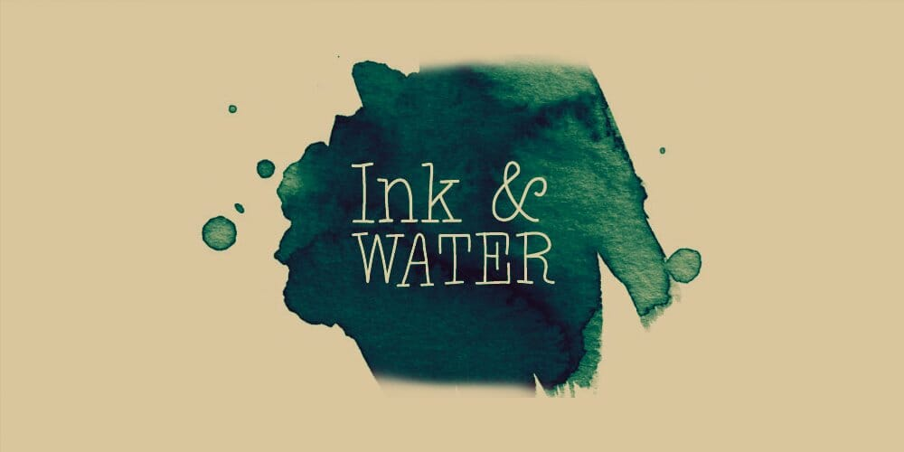 Ink and Water Photoshop Brushes