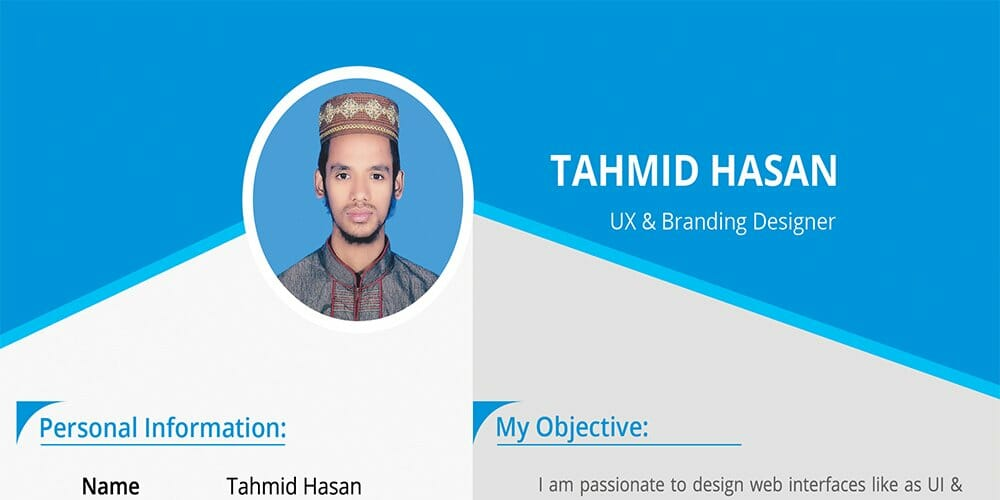 Personal Resume Template PSD