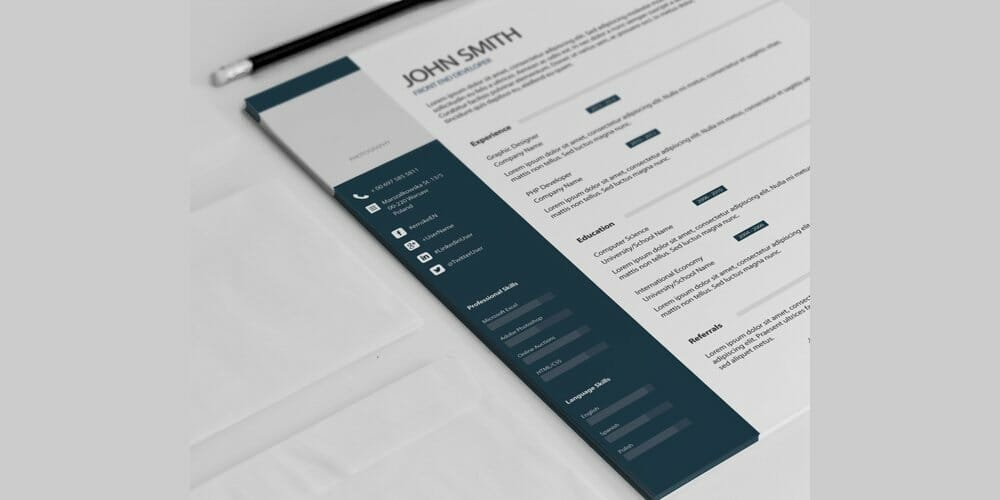Simple Classic Resume Template PSD