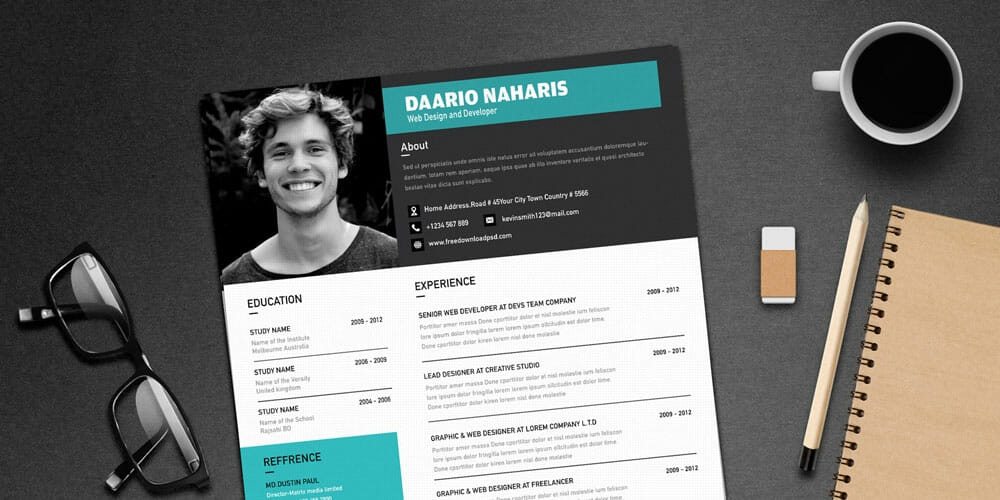 Simple Resume Templates Download PSD