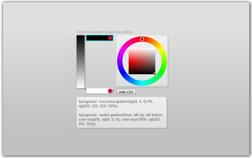 The ultimate collection of 500 css generators css author simple visual css gradient editor malvernweather Gallery