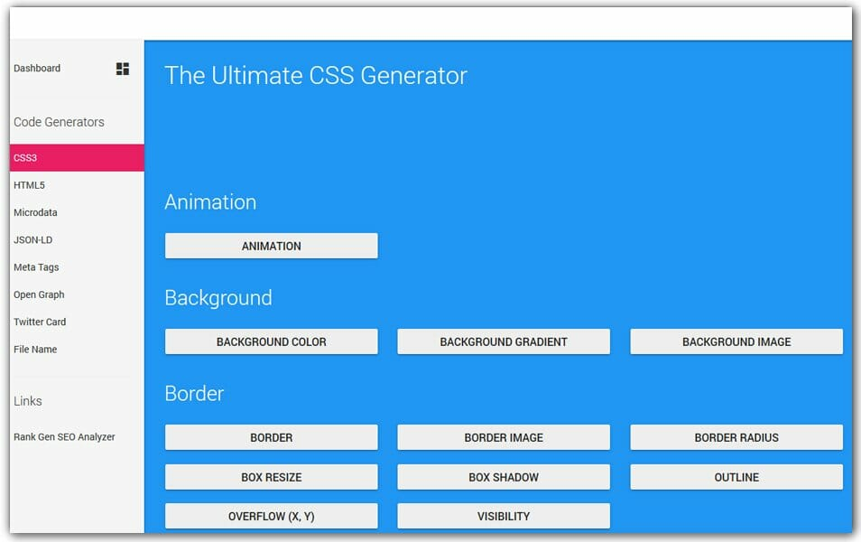 The Ultimate CSS Generator | Webcode Tools