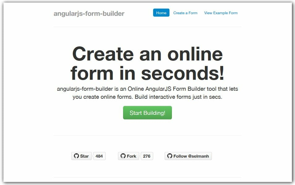 Angular JS Form Builder