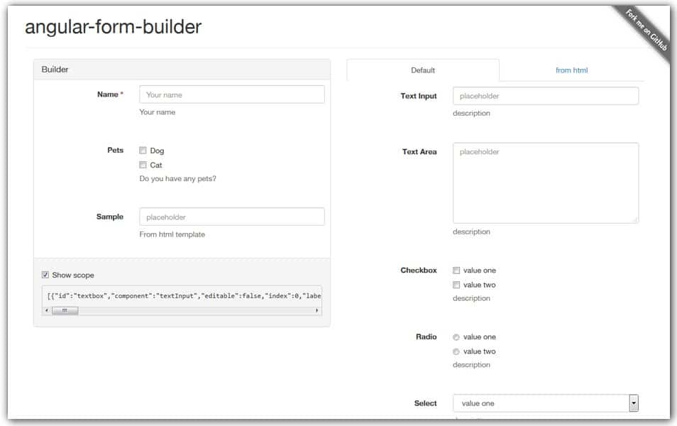 AngularJS Form Builder