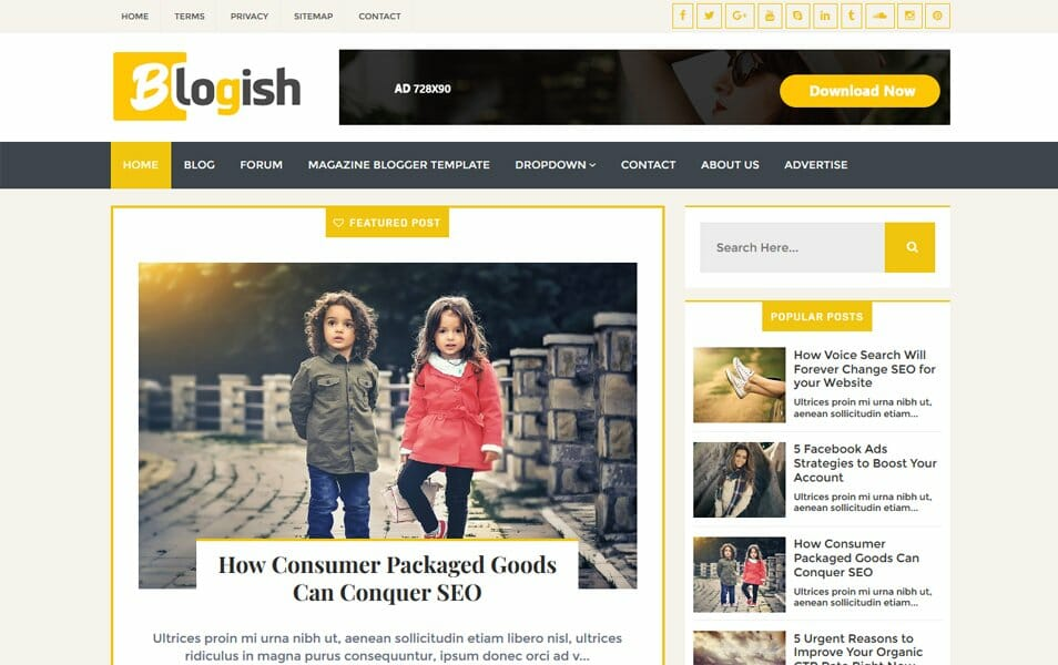 Blogish Responsive Blogger Template