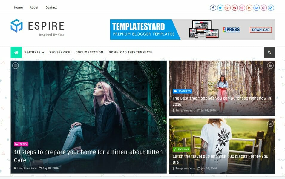Espire Responsive Blogger Template