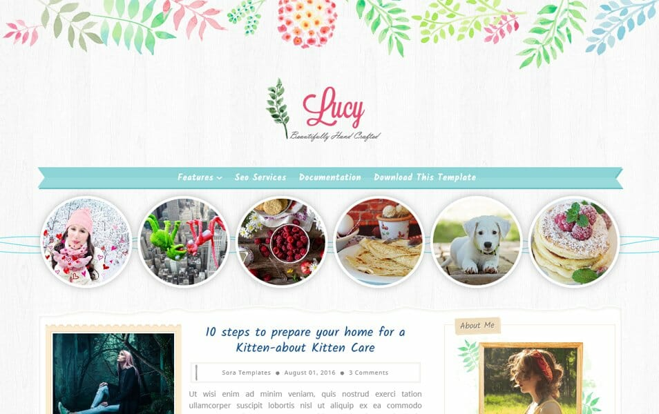 Lucy Beauty Responsive Blogger Template