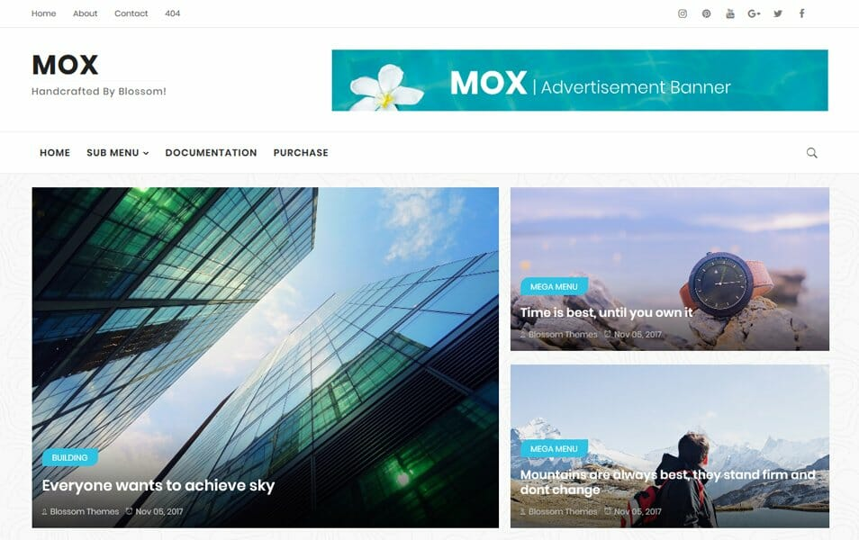 MOX Responsive Blogger Template