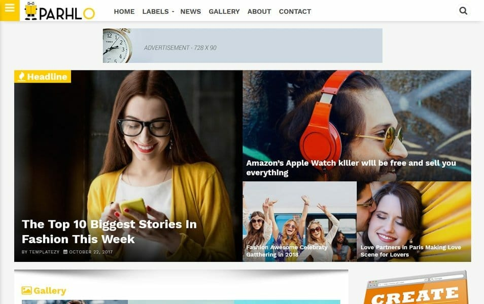 Parhlo Responsive Blogger Template