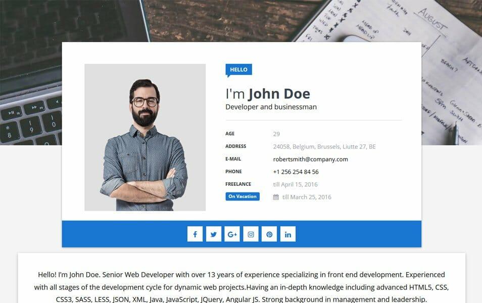 Sora CV Responsive Blogger Template