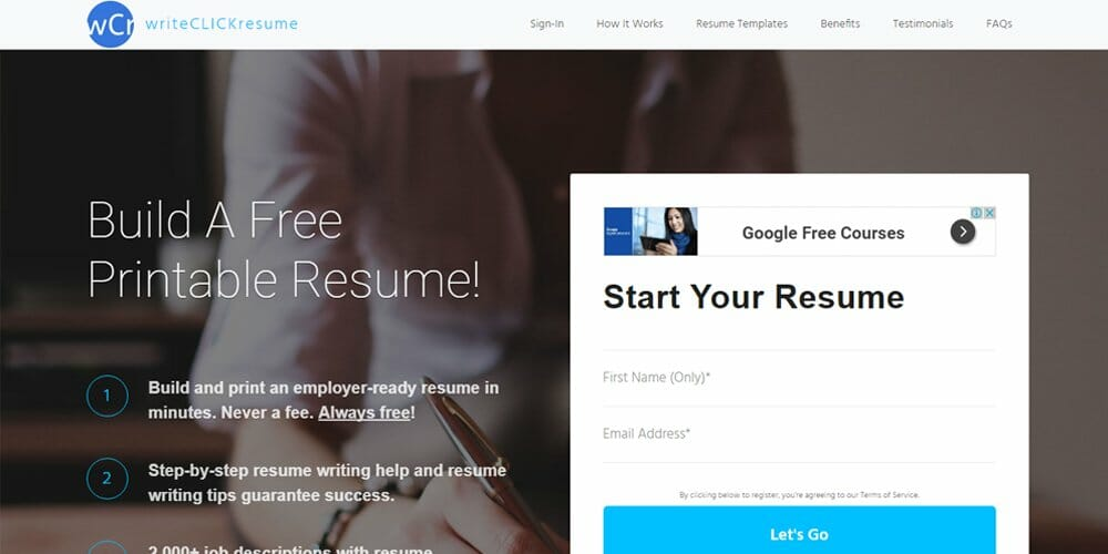 Write Click Resume