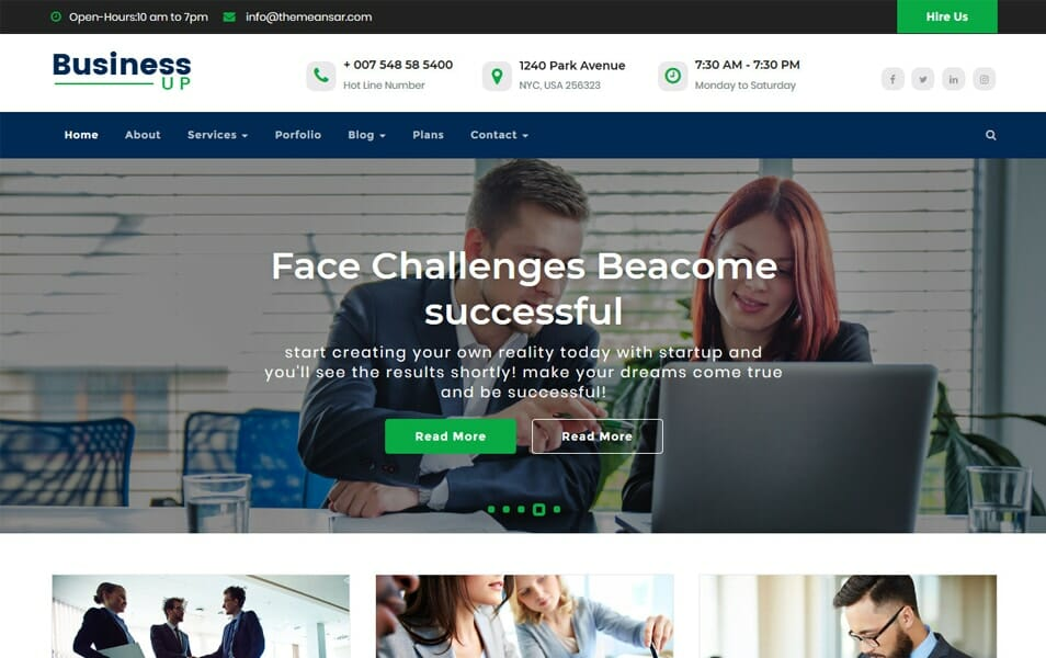 BusinessUp WordPress Theme The Ideal For A Website Like Business Company Corporate Financial Advisor Accountant Consulting Firms Insurance Loan