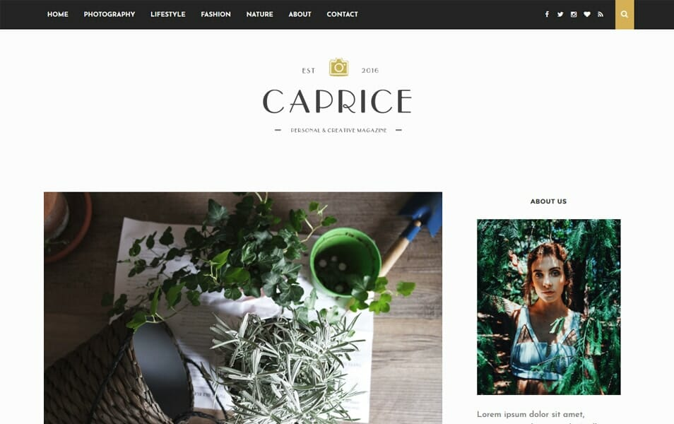 Caprice Responsive Blogger Template