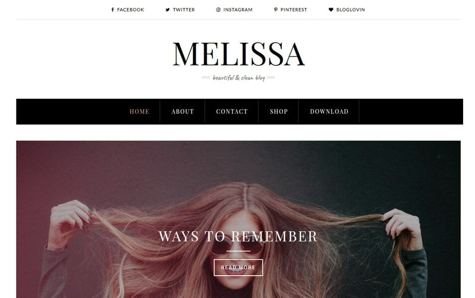 Melissa Responsive Blogger Template