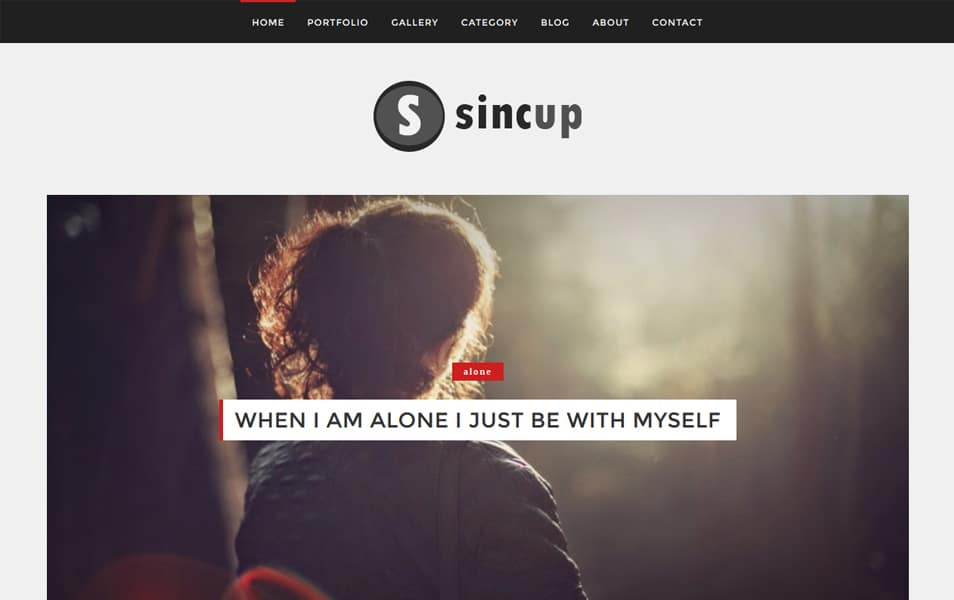 Sincup Responsive Blogger Template