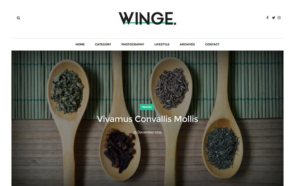 Winge Responsive Blogger Template