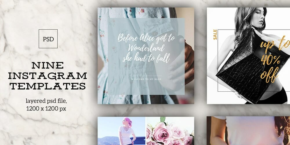 Free Instagram Templates PSD