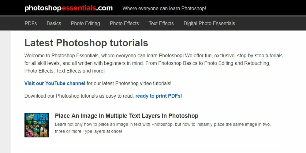 Photoshop Essentials