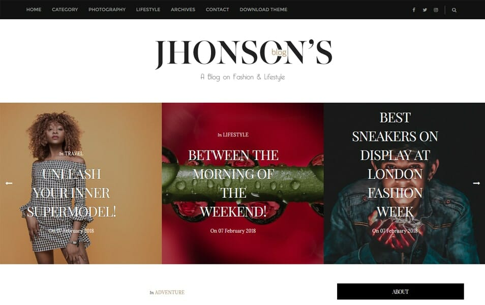 Jhonson's Blog Responsive Blogger Template