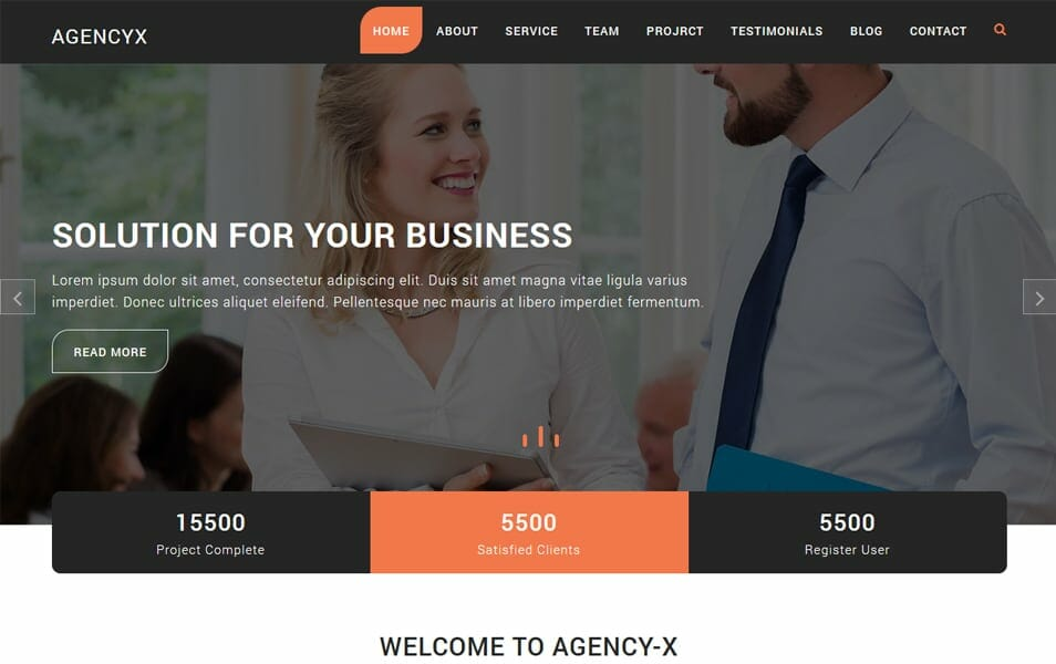 750 best free responsive wordpress themes 2018 css author agency x is responsive wordpress theme which can be used for web design firms or any other corporate business agencies consulting legal attorney law fandeluxe Images