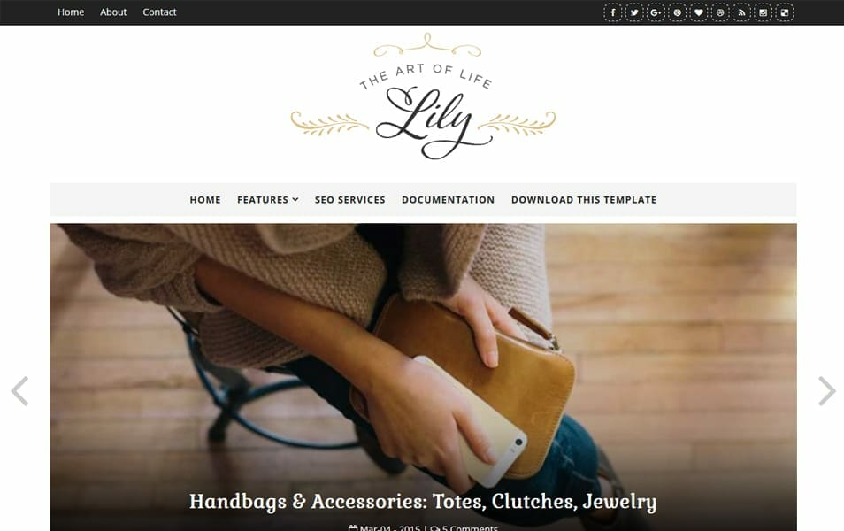 Lily Fashion Responsive Blogger Template