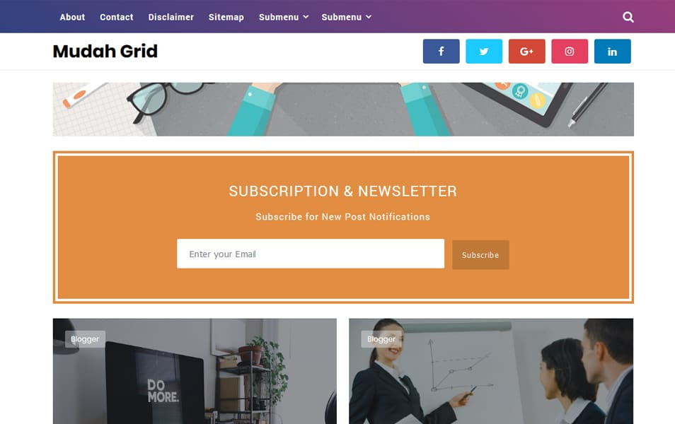 40 latest free grid style blogger templates 2018 css author