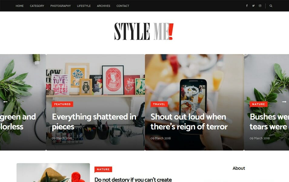 Style Me Responsive Blogger Template