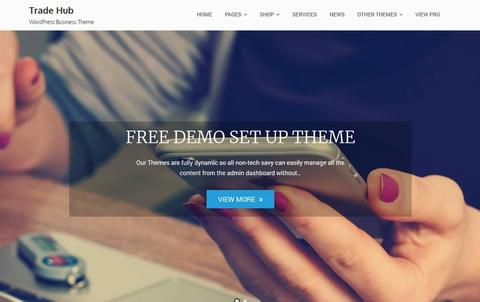 750 best free responsive wordpress themes 2018 css author trade hub is a user friendly creative theme for all kind of business accounting financial coaching law office business planning corporate websites and fandeluxe Images