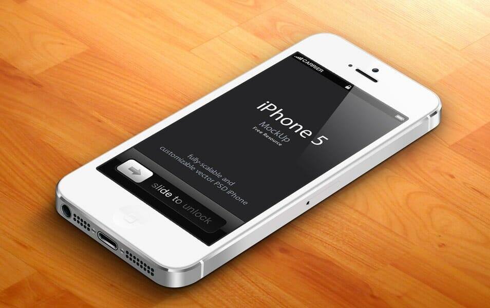 3D iPhone 5 PSD Vector Mockup