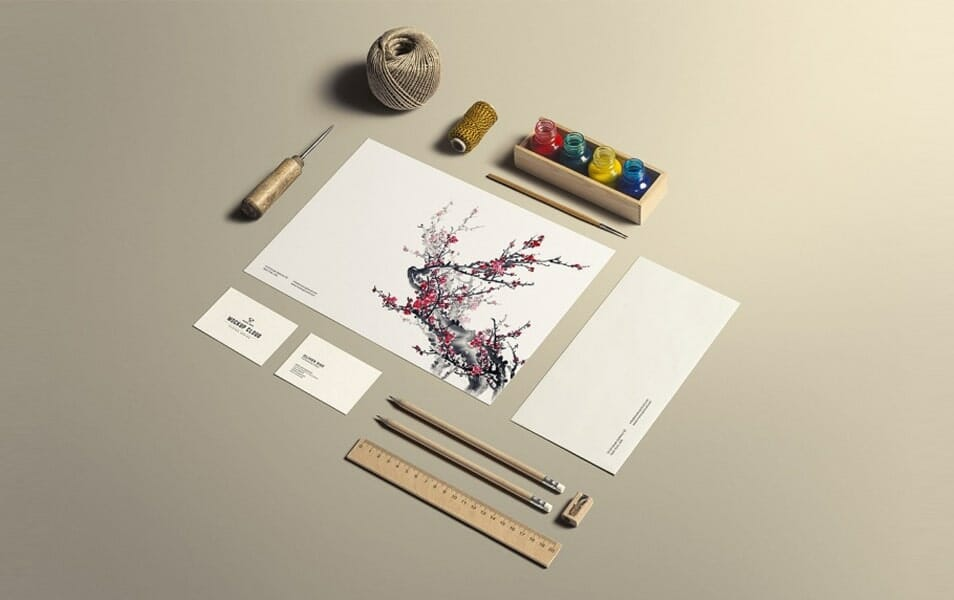Art & Craft Stationery Branding Mockup