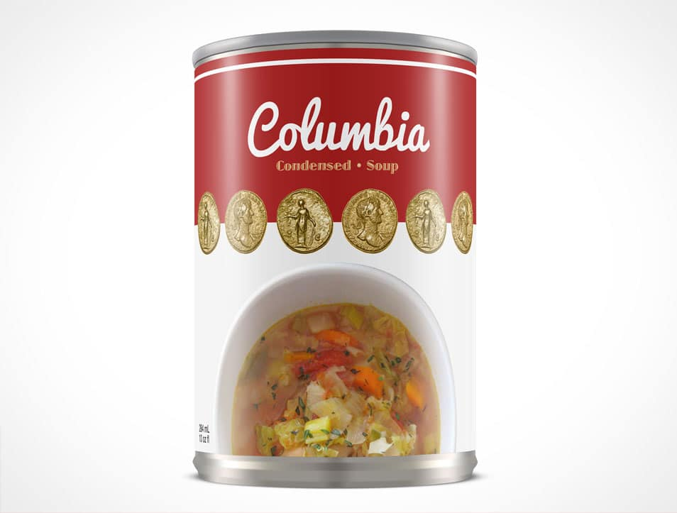 284mL Soup Can Mockup