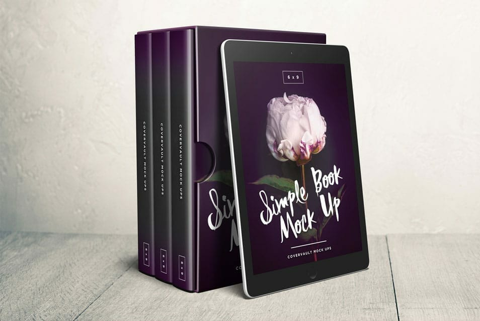 6 x 9 Box Set with Ereader Template Mockup