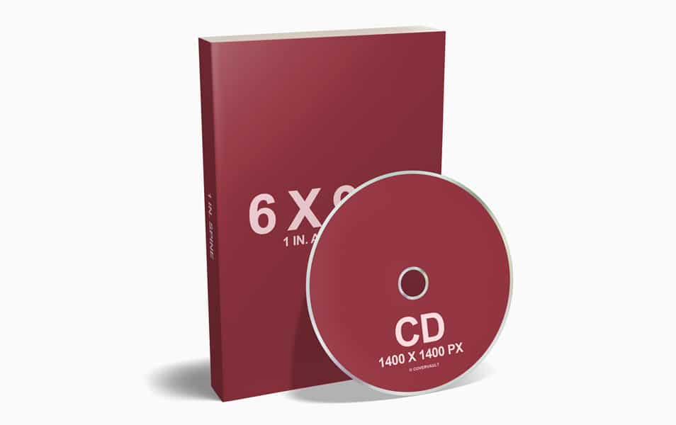 Audiobook CD with 6 x 9 Paperback Mockup