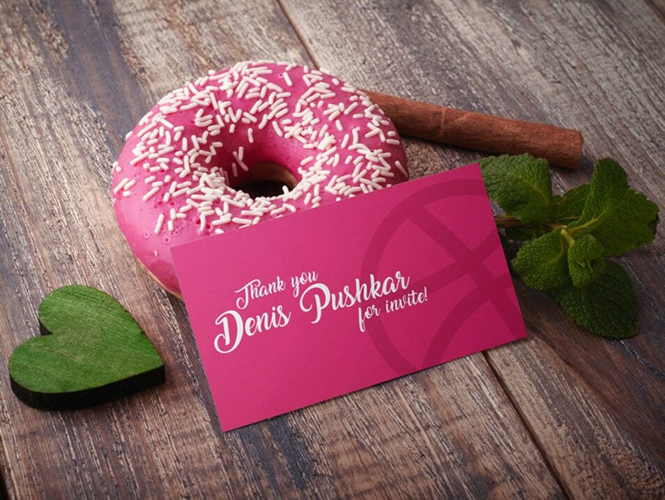 Donut Business Card Mockup