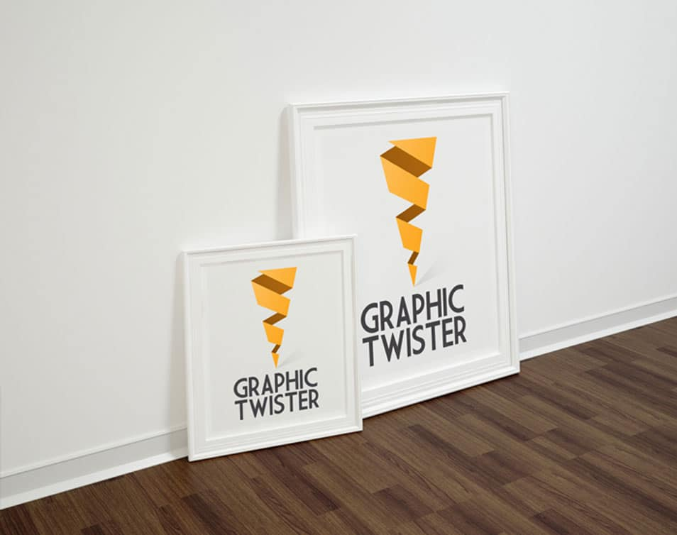 Double Left Poster Frame Mockup