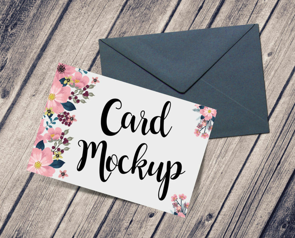 Free Card U0026 Envelope Mockup PSD