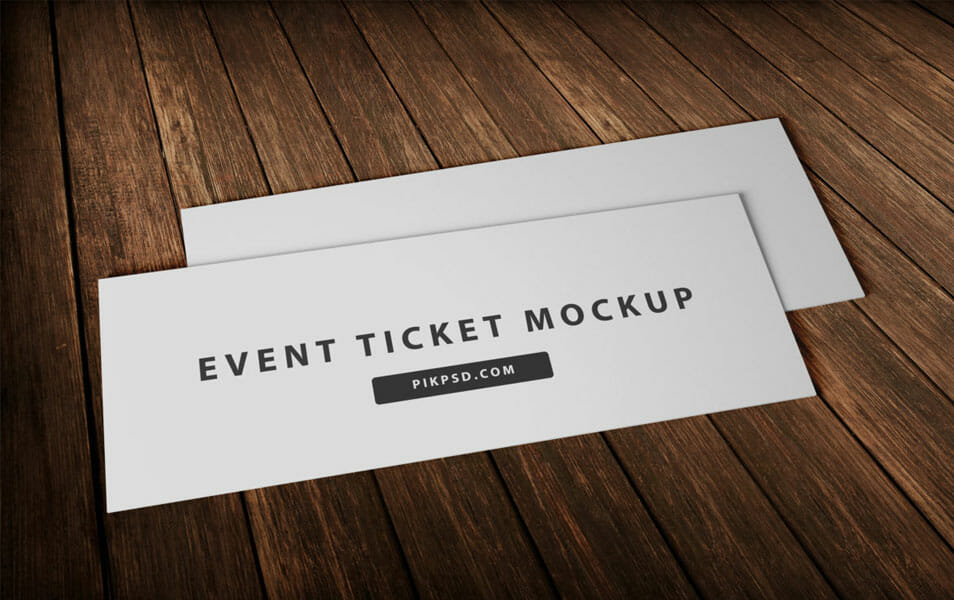 Free Event Ticket Mockup PSD