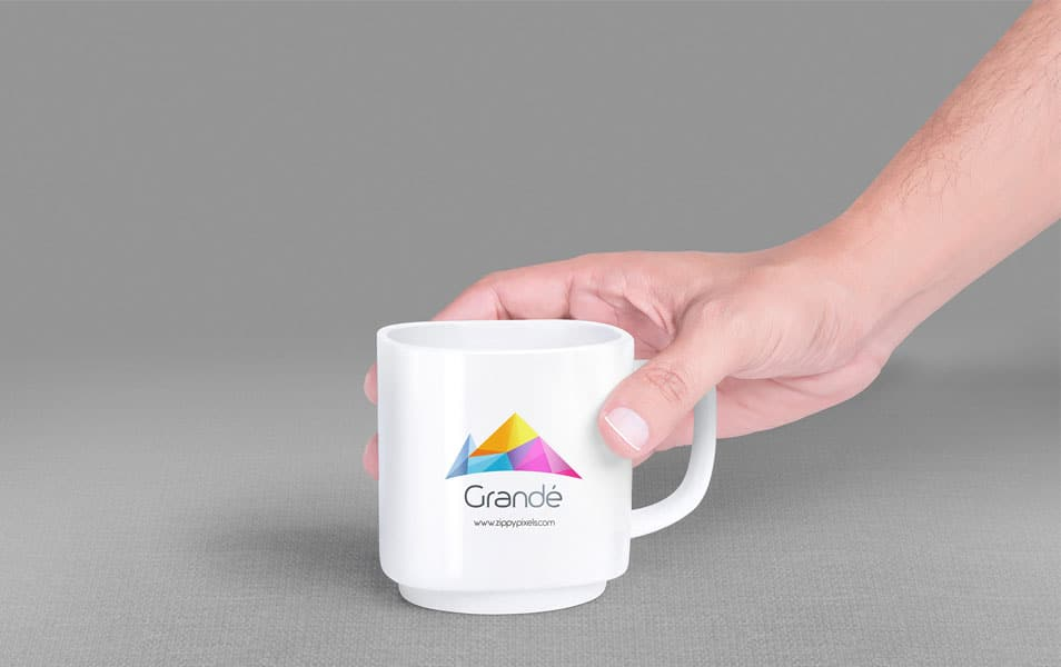 Free Mug Mockup With 7 Unique Holding Positions