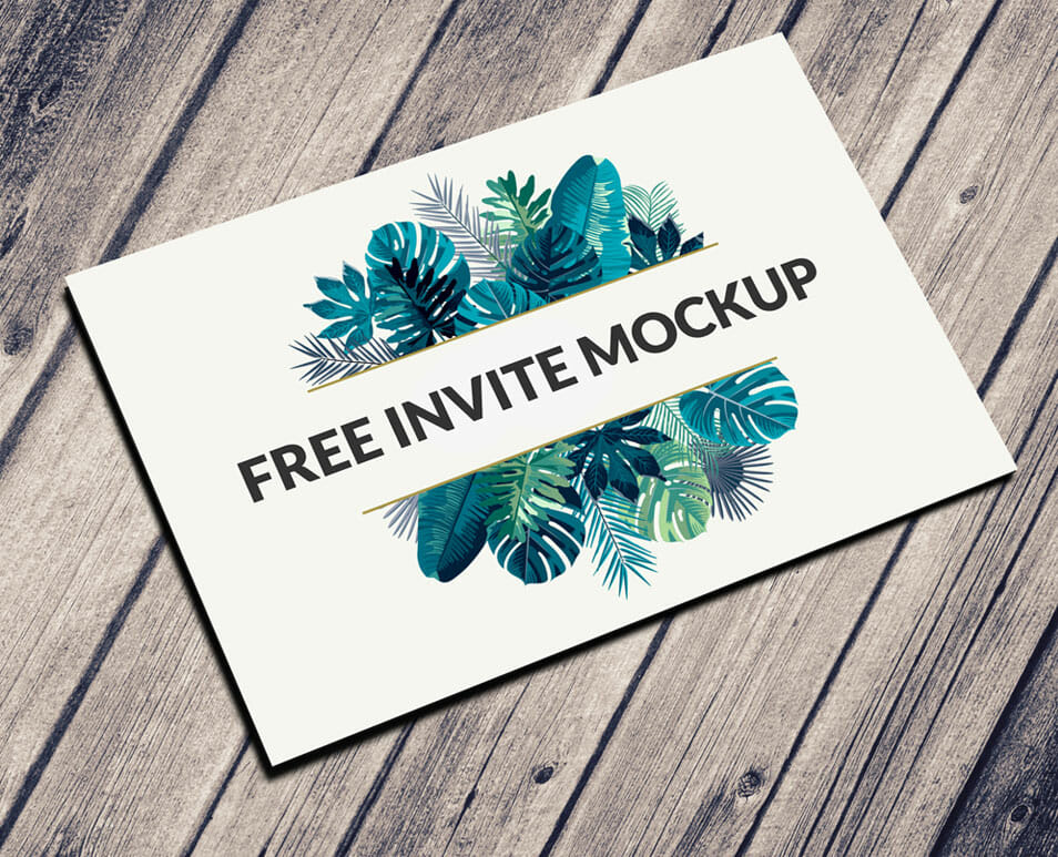 Free Postcard U0026 Invitation Mockup PSD