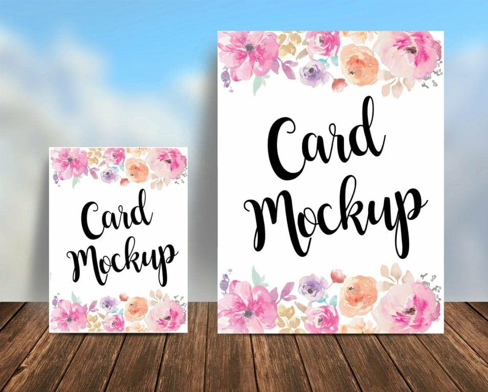 Free Postcard Mockup Psd Css Author
