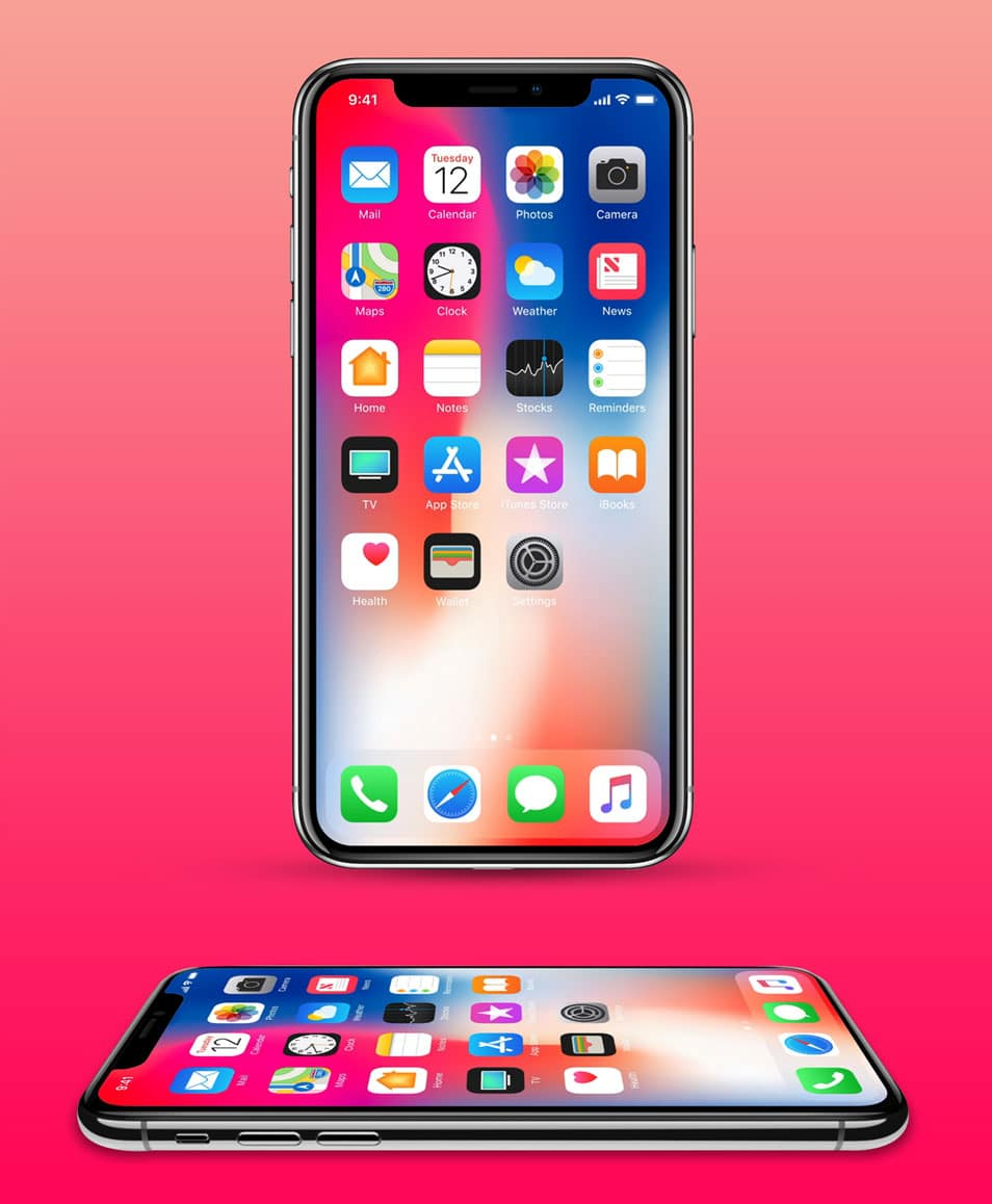 Free iPhone X Mockup With 2 Angles